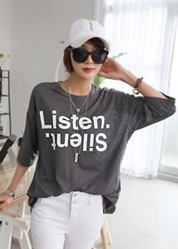 "486672 - <font color=""878787""><font face=""굴림"">リッスン捺染Tシャツ</font></font>"