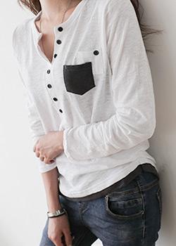 488314 - みるブスラブポケットTシャツ