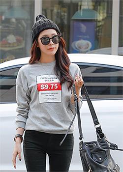 488934 - ツーラージ捺染マンツーマンTシャツ
